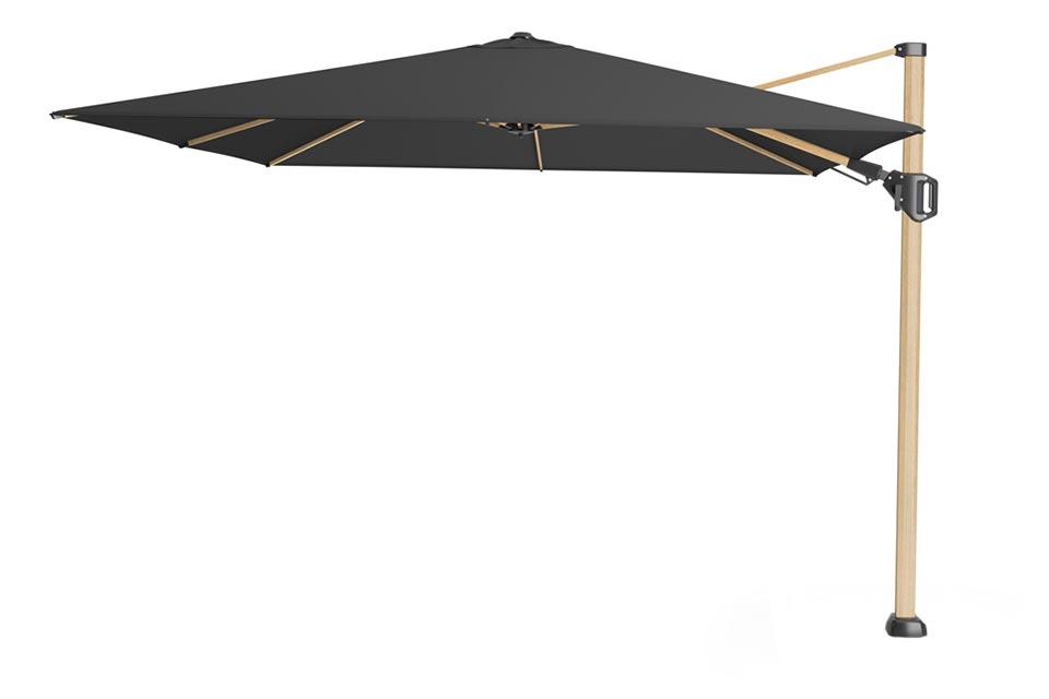 Platinum | Zweefparasol Challenger T² Premium 300 x 300 cm | Oak-Faded-Black