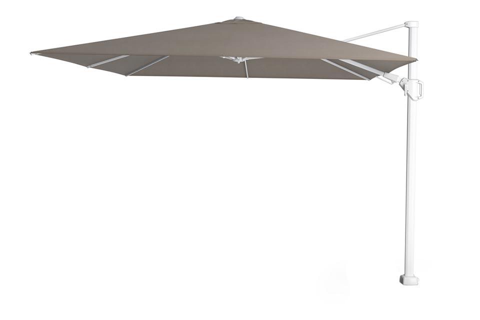 Platinum | Zweefparasol Challenger T² Premium 300 x 300 cm | Wit-Havana