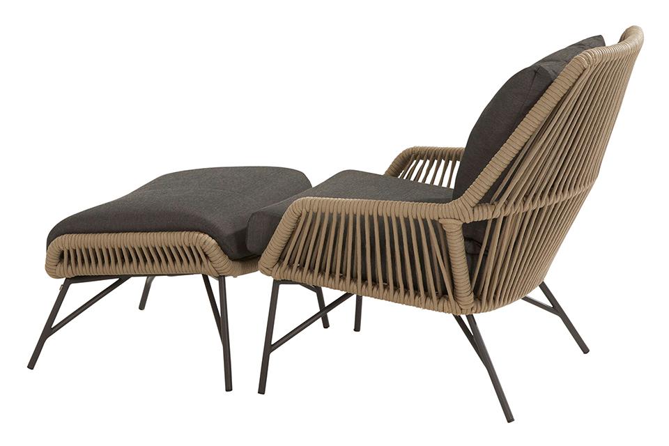 4 Seasons Outdoor | Loungestoel Ramblas met Voetenbank