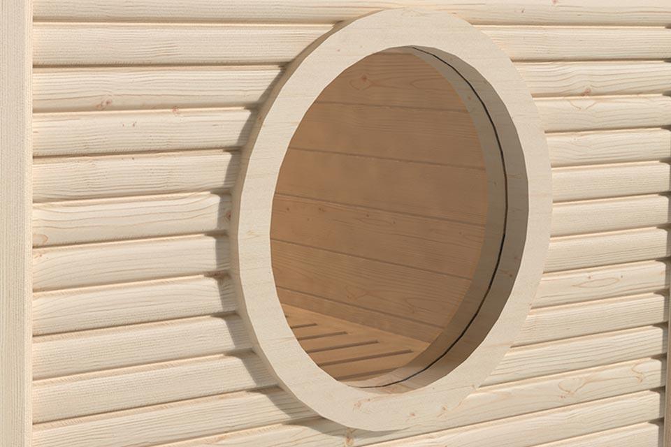 Weka | Raam Rond voor 45 mm Sauna's