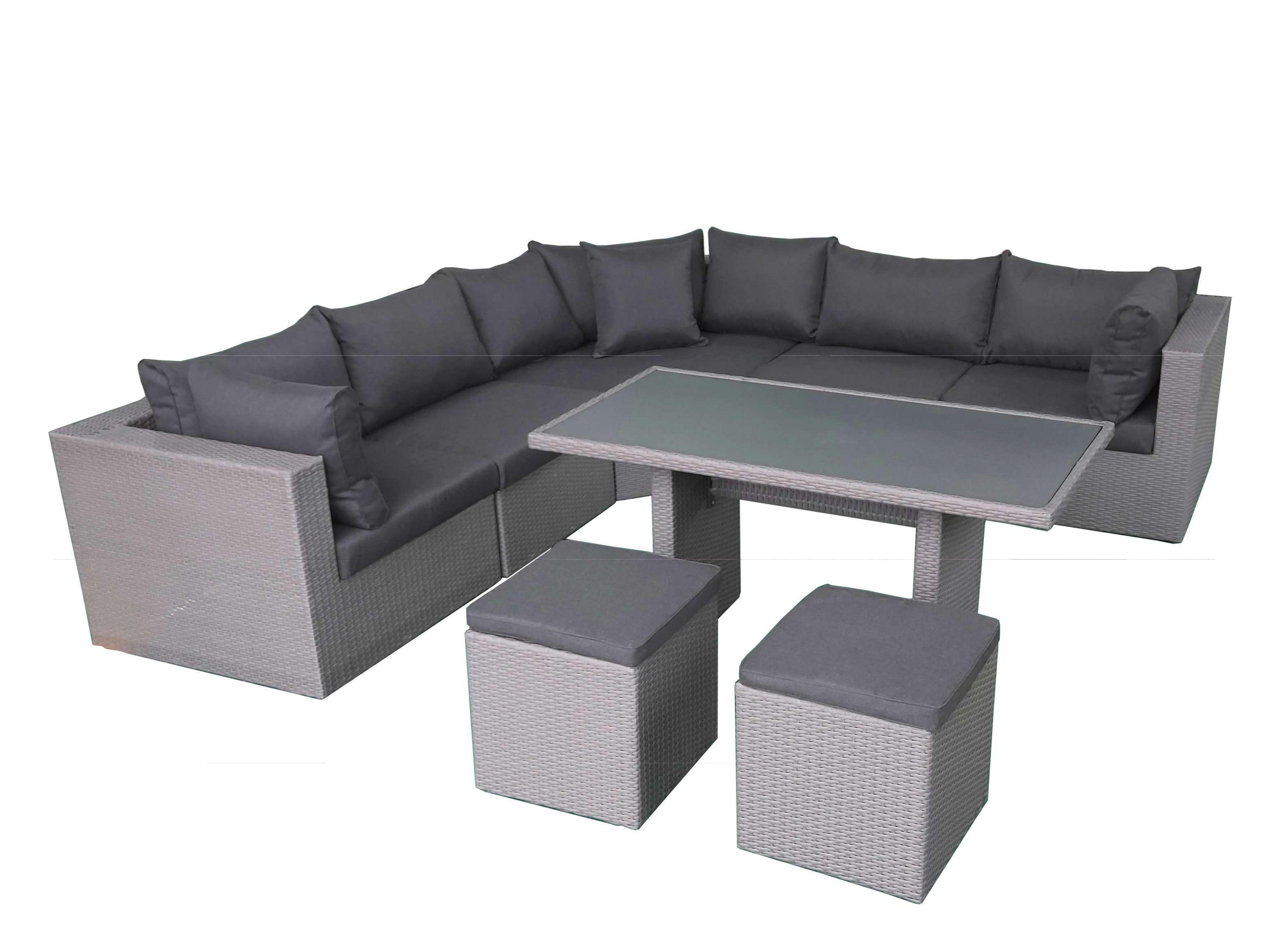 Fonteyn | Lounge-/Dining set Salou | Dark Grey
