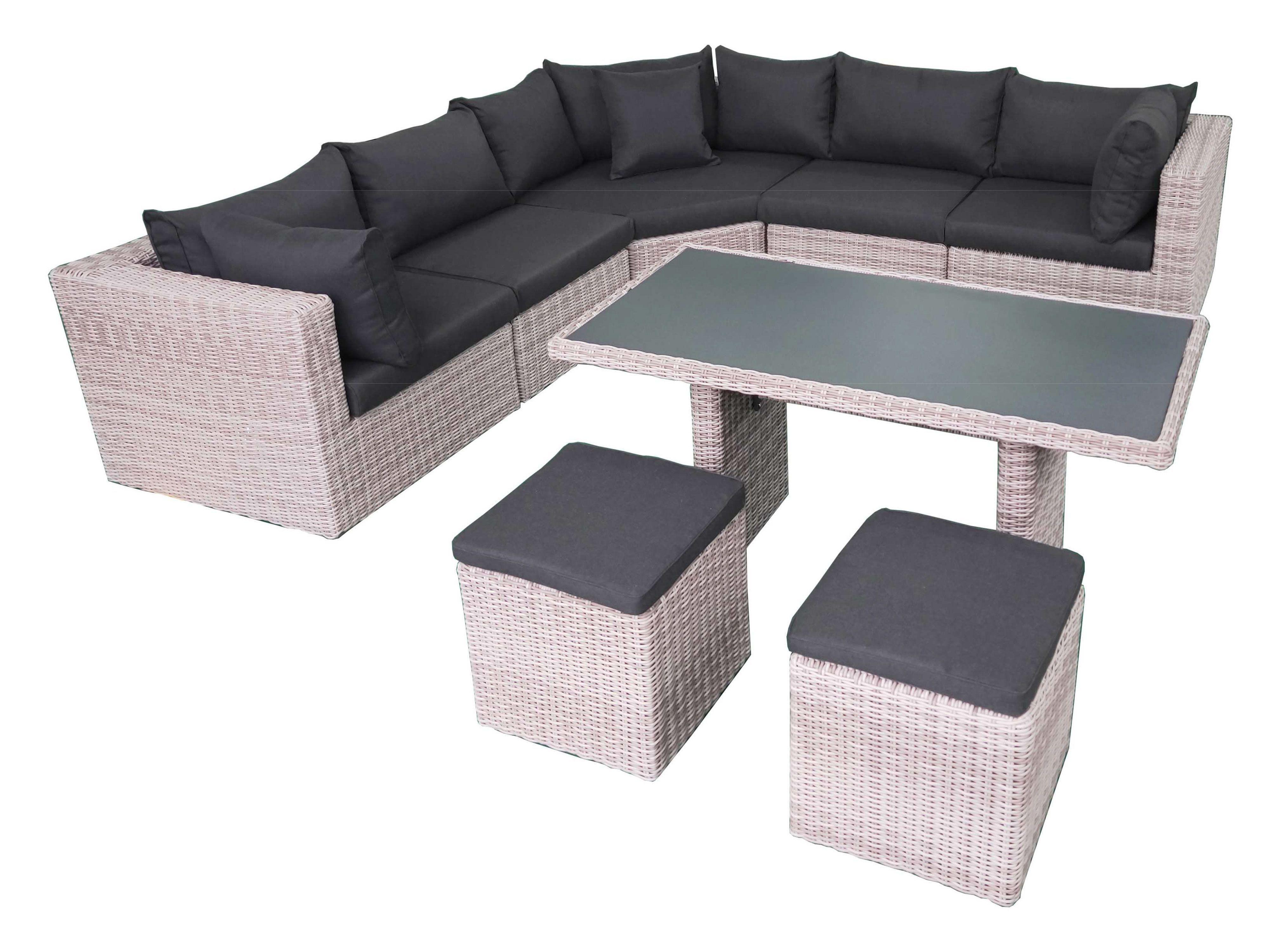 Fonteyn | Lounge-/Dining set Salou XL | Halfmoon Light Grey
