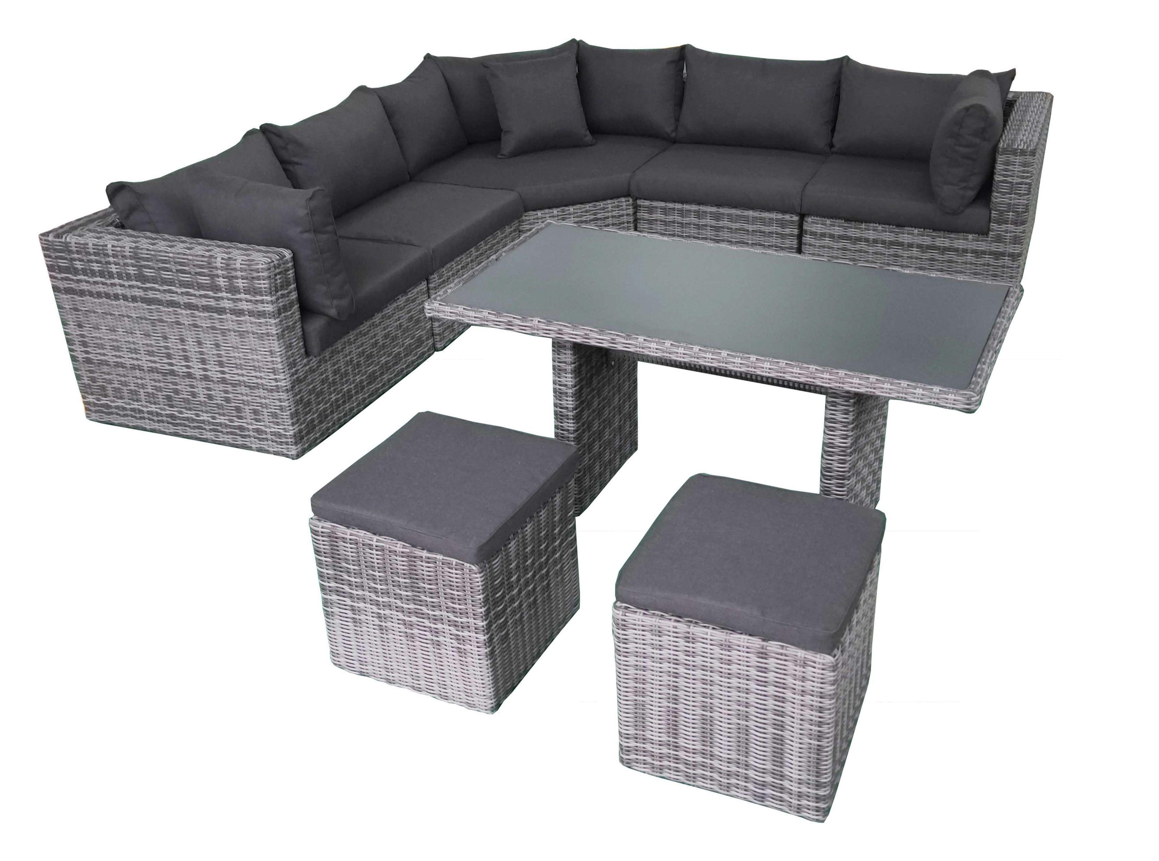 Fonteyn | Lounge-Dining Set Salou XL | Halfmoon Dark Grey