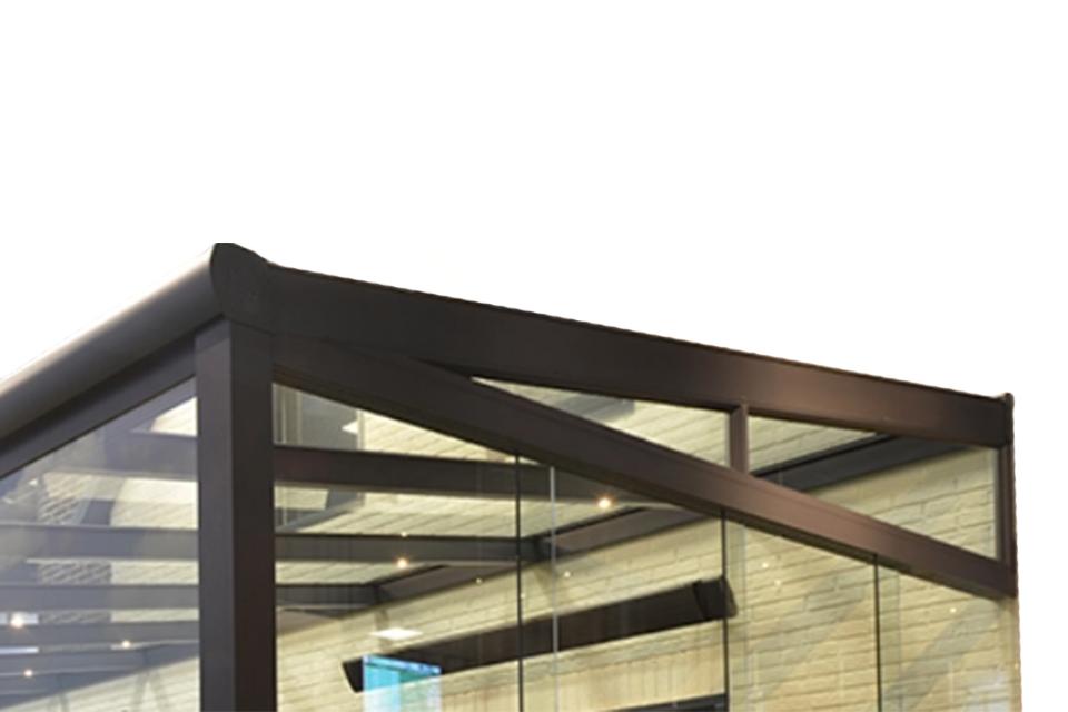Fonteyn | Zijwand tuinkamer glazen panoramawand tbv Comfortline 400 cm