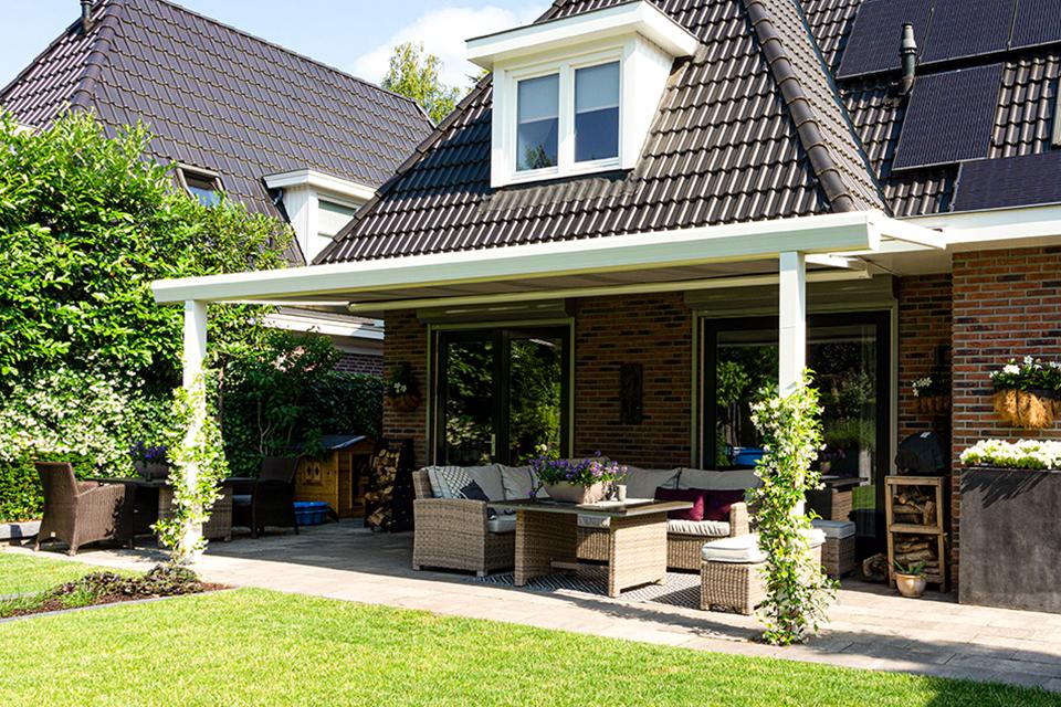 Aluxe Topline veranda met platen 7000x3000