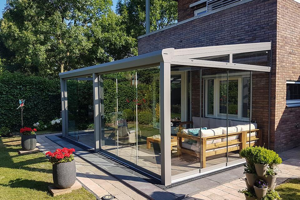 Aluxe Topline veranda met platen 3000x3500