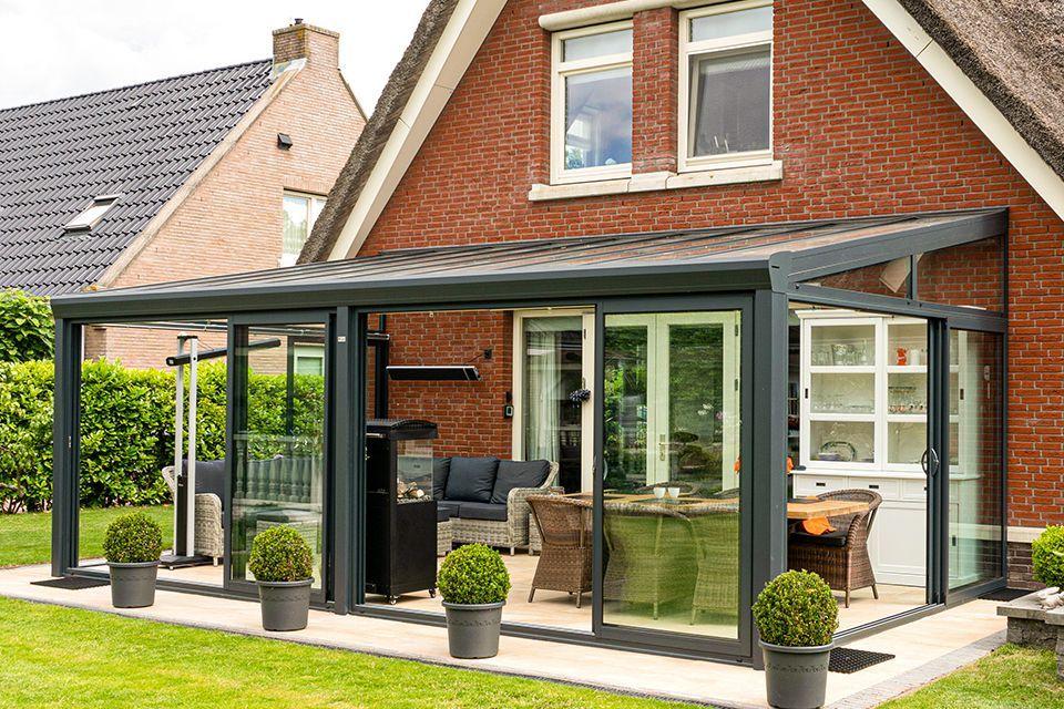 Aluxe Topline veranda met platen 4000x4000