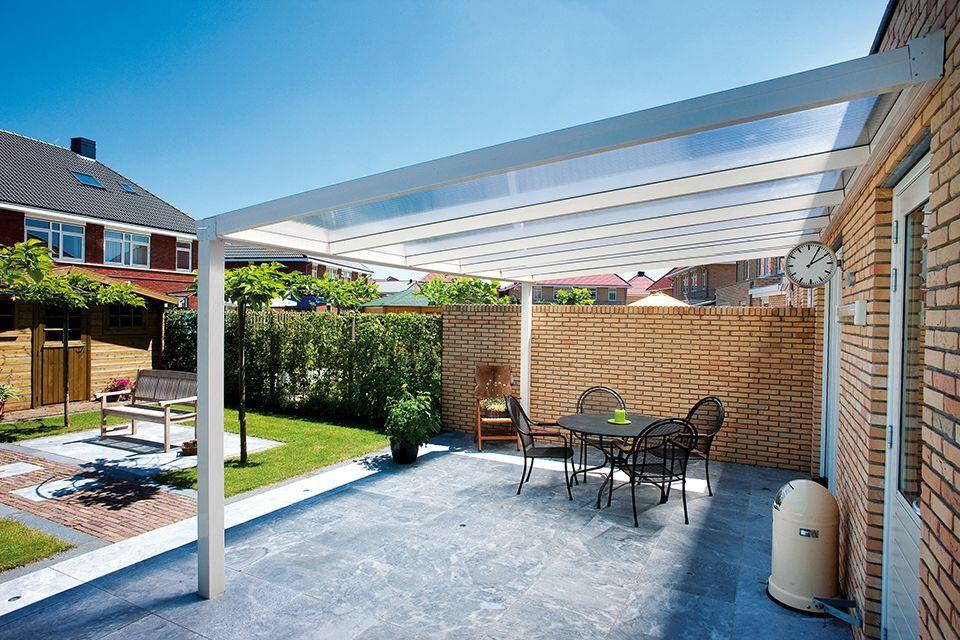 Aluxe Trendline veranda met platen 4000x3500