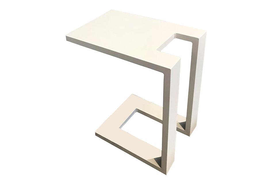 Fonteyn | Bijzettafel U Aluminium | Wit