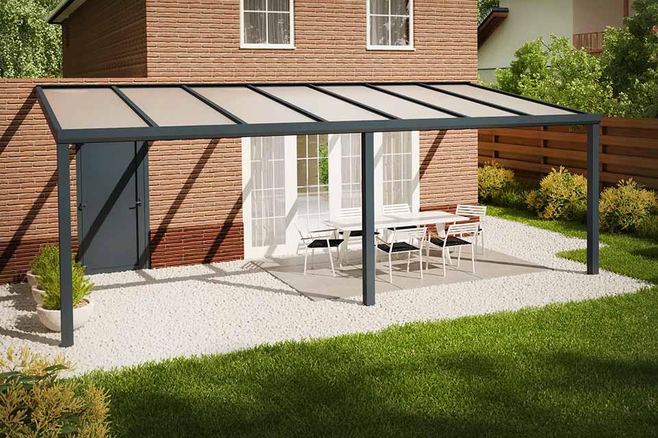 Fonteyn | Veranda Comfortline 706 x 300 cm RAL7016 Grijs