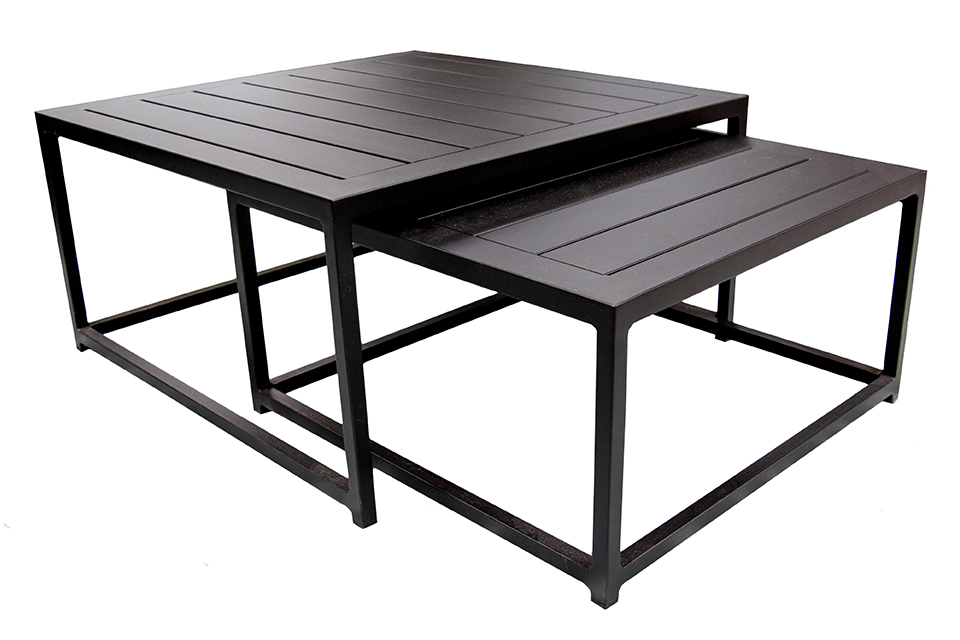 Fonteyn | Vierkante Koffietafel set van 2 | Zwart