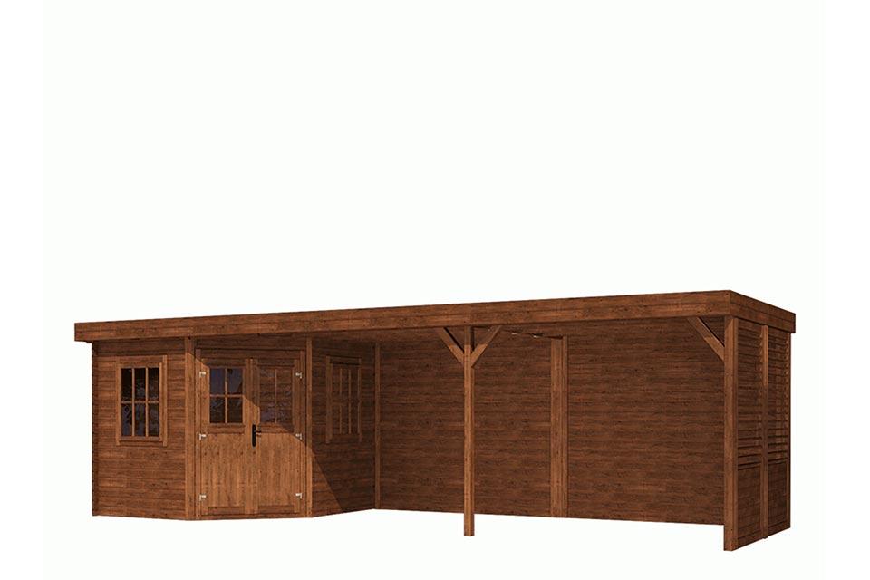 Fonteyn | Tuinhuis Module Vijfhoek Platdak 800