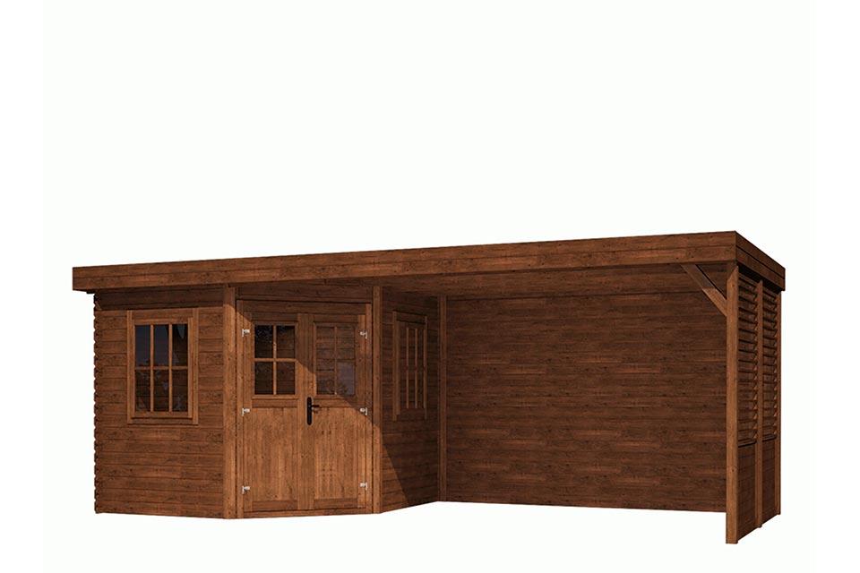 Fonteyn | Tuinhuis Module Vijfhoek Platdak 600