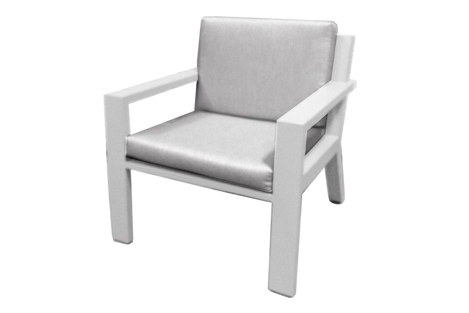 Borek | Loungestoel Viking met Wielen | Wit