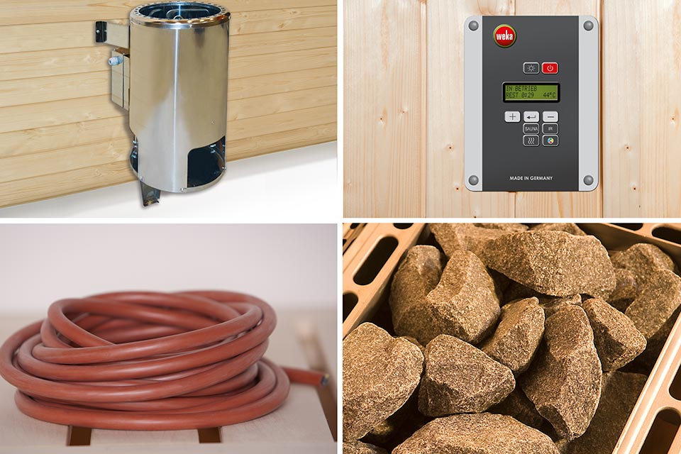 Weka | Saunakachelset 1 - 3,6 kW - 3 x 230 V