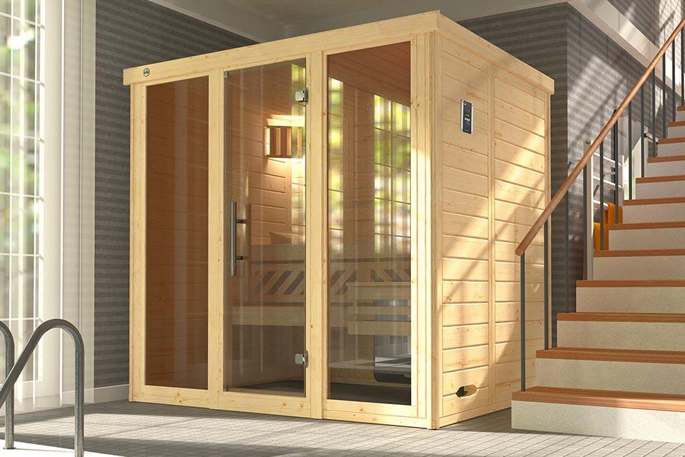 Weka | Sauna Kemi 2 Panorama | 7,5 kW Bio-Kachel