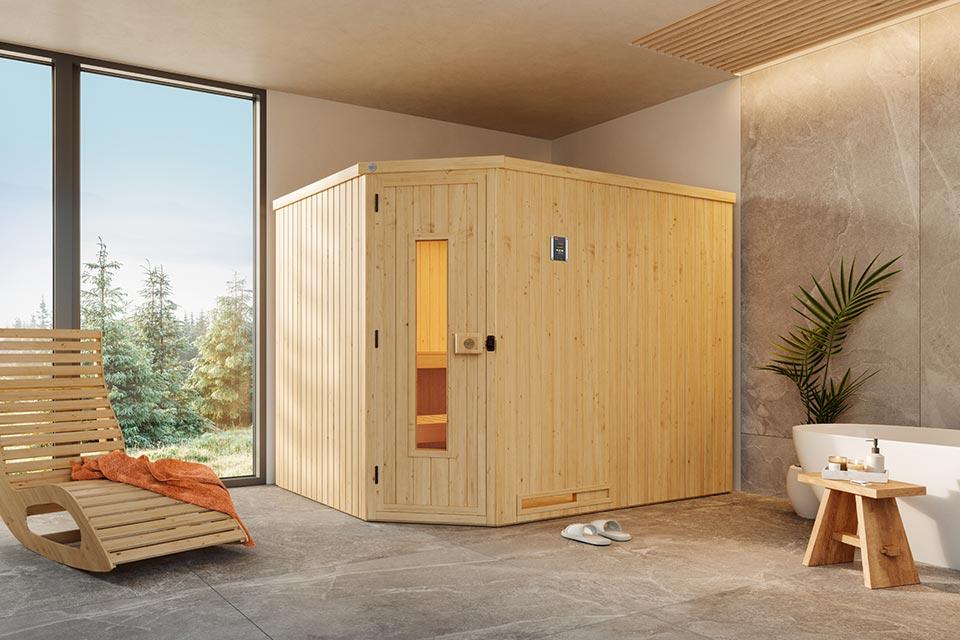Weka | Sauna Varberg 4 HT Hoek