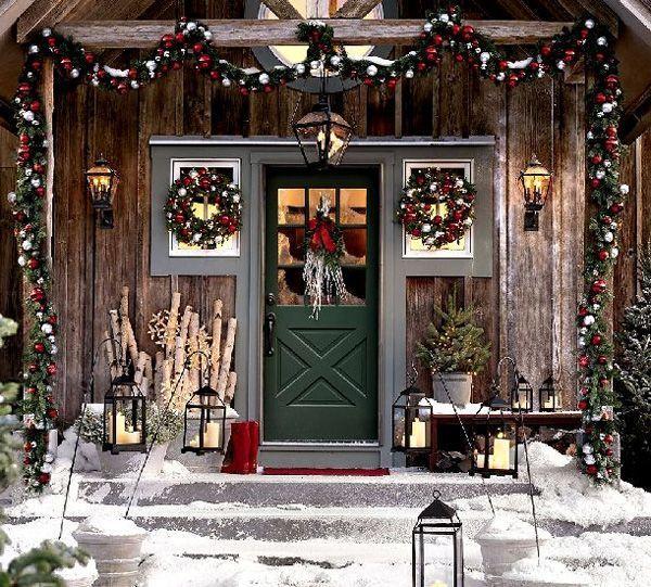 De kerst veranda
