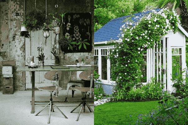 Werken vanuit een tuinkantoor