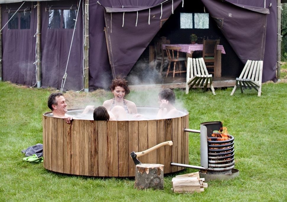 Tuin idee: een houten hot tub!