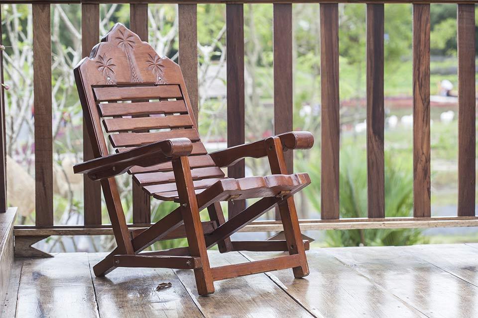 Veranda schommelstoel