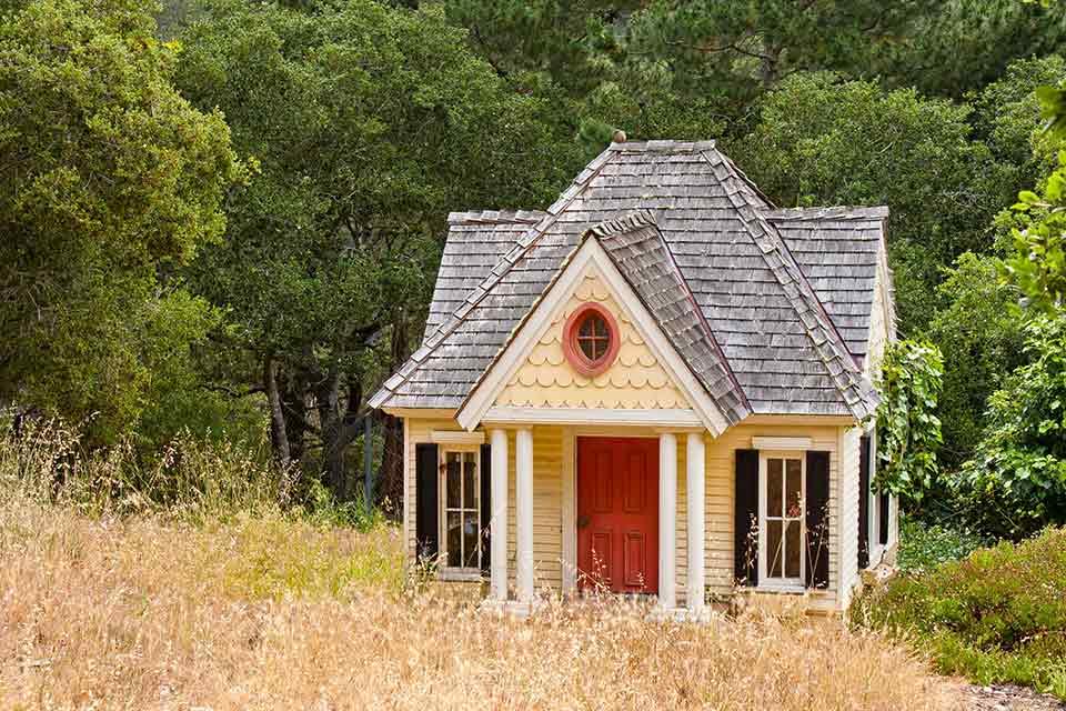 Huisje in de tuin