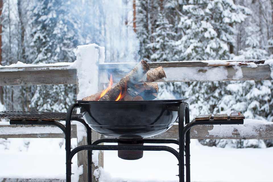 Winterse barbecue