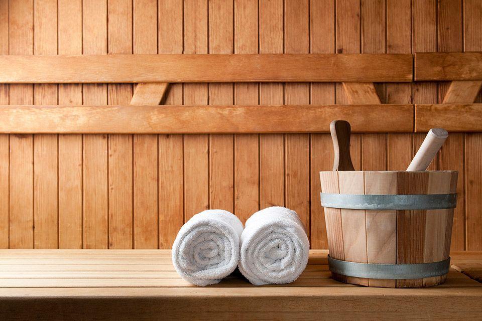 ontstressen in de sauna