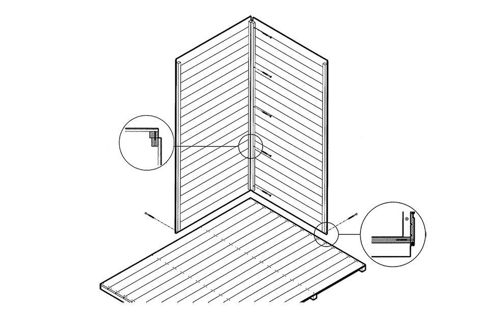 Eenvoudige blokhut Zelfmontage