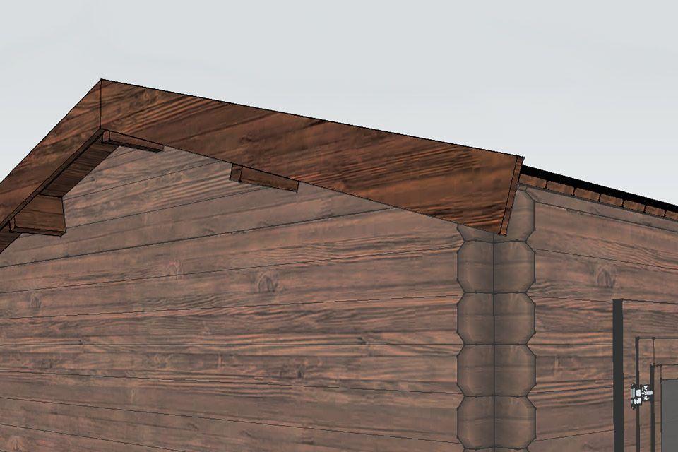 Prachtig afgewerkt dakoverstek