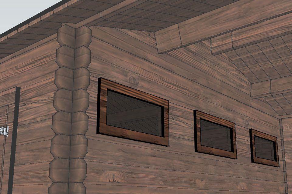 Drie ramen voor uitstekend lichtinval