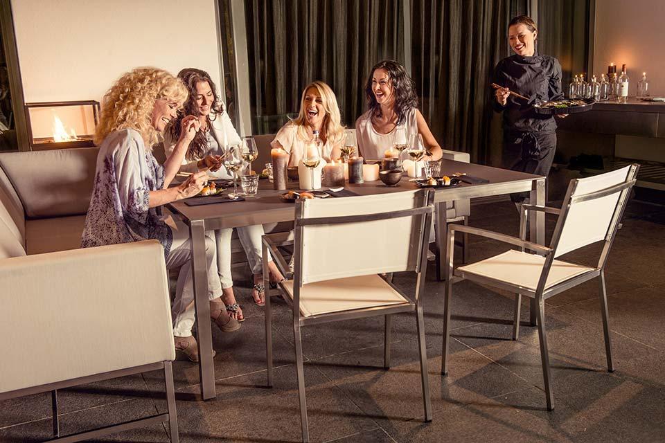 Lounge- Diningset Tivoli | RVS-Textilene | 4 Seasons Outdoor!