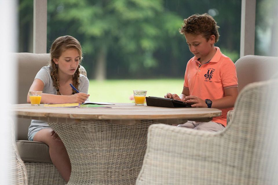 Loungeset Diningset Indigo Wicker Teakhout | 4 Seasons Outdoor!