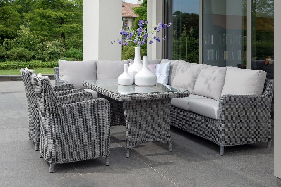 Lounge-Diningset Indigo | Wicker | 4 Seasons Outdoor!