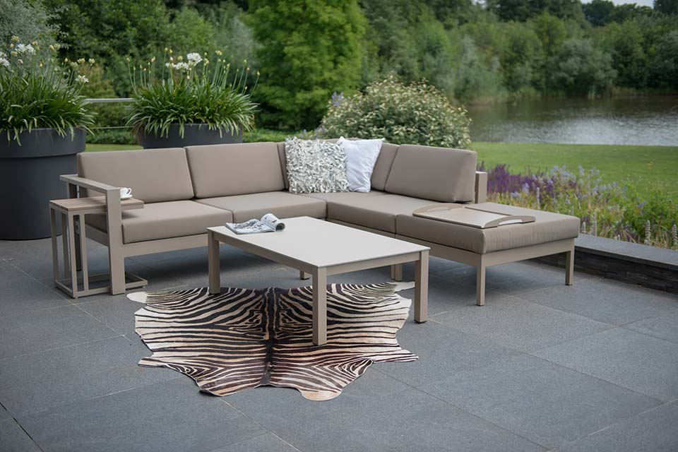 Loungeset Hoekbank Cosmo Aluminium | 4 Seasons Outdoor!