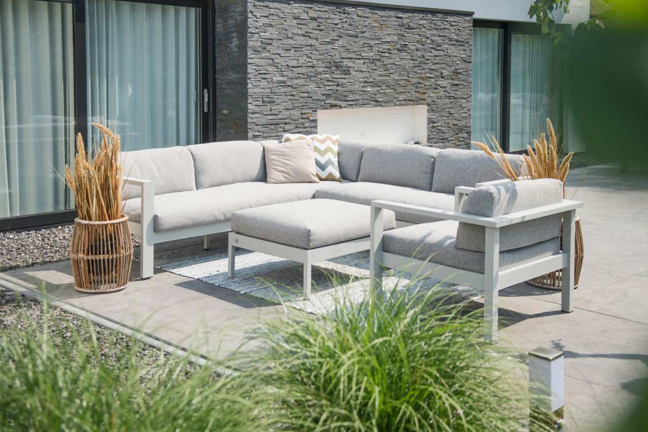 Loungeset Hoekbank Galaxy Modular Living | Aluminium | 4 Seasons Outdoor!