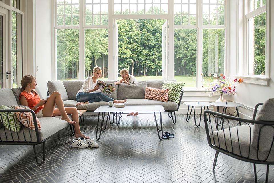 Loungeset Hoekbank Premium | Aluminium | 4 Seasons Outdoor!