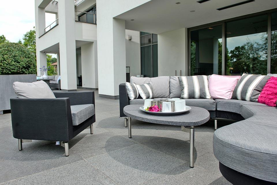 Loungeset Hoekbank Curve Outdoor Textilene | 4 Seasons Outdoor!