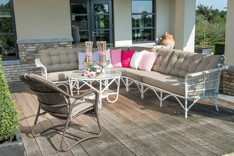 Avignon Loungeset Hoekbank | Wicker | 4 Seasons Outdoor!