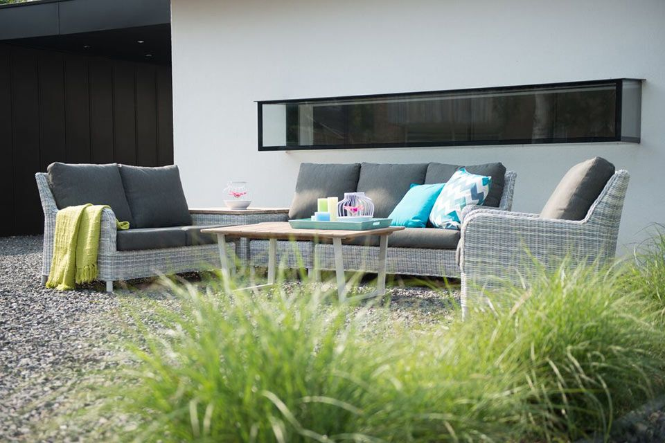 Loungeset Edge Ice Wicker | 4 Seasons Outdoor!