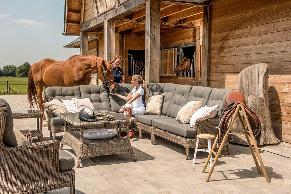 Loungeset Hoekbank Buckingham Pure Wicker | 4 Seasons Outdoor!