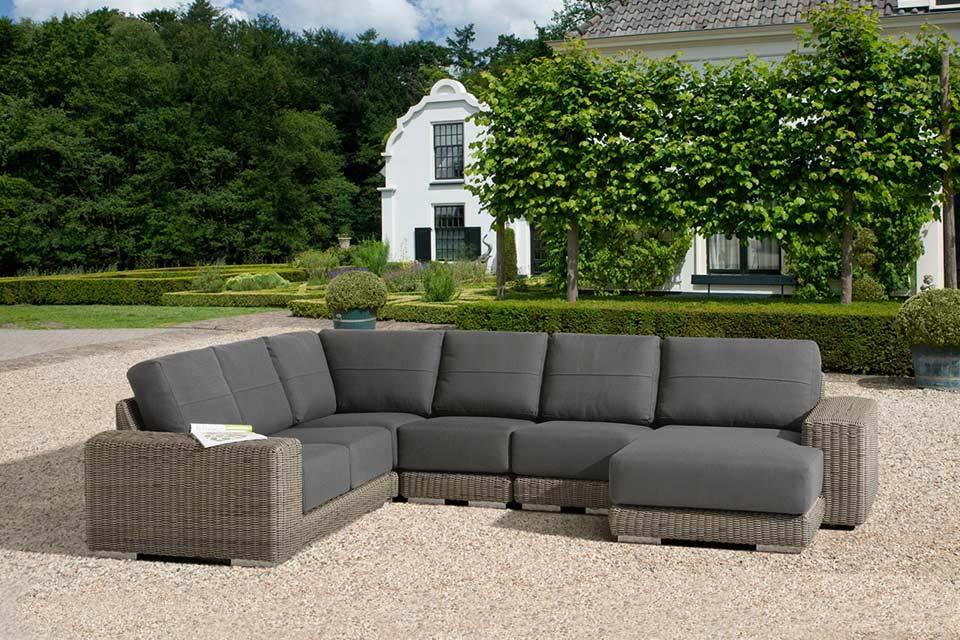 Loungeset Hoekbank Kingston | Wicker | 4 Seasons Outdoor!