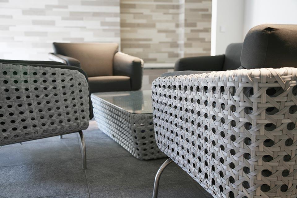 Loungestoel Living Chair Luton | Pearl Wicker Stainless Steel | 4 Seasons Outdoor!