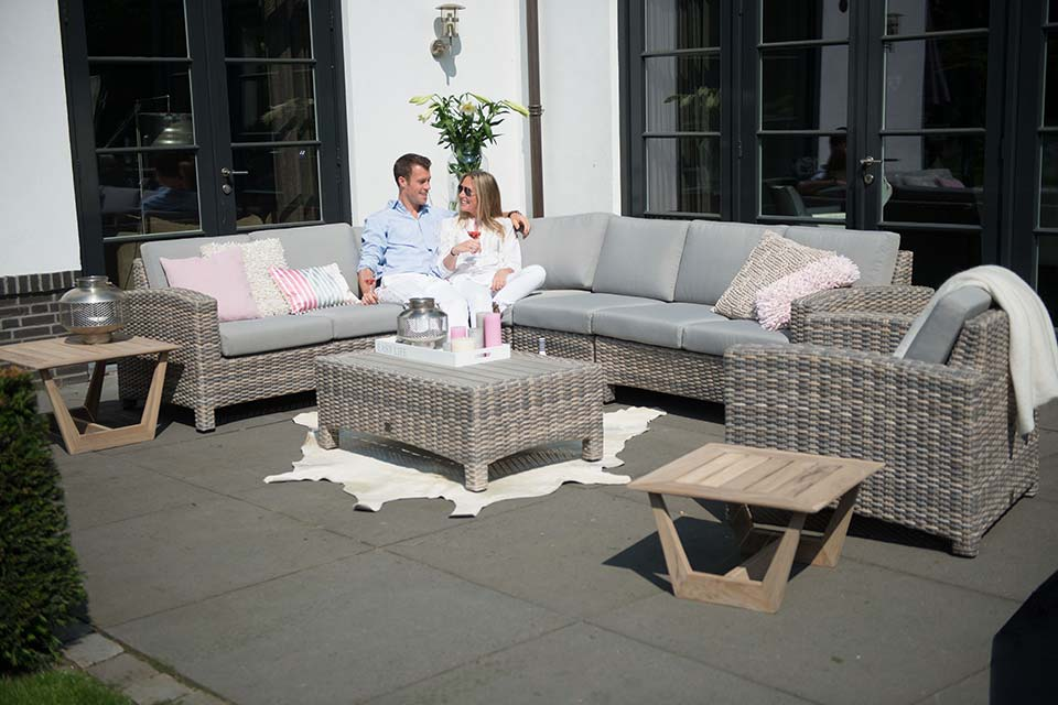 Loungeset Hoekbank Modular Living Mambo | Wicker | 4 Seasons Outdoor!