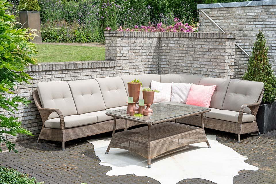 Loungeset Hoekbank Modular Living Sussex Modular Living | Polyloom Wicker | 4 Seasons Outdoor!