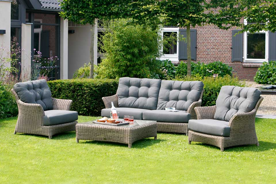 Loungeset Valentine Pure Wicker | 4 Seasons Outdoor!