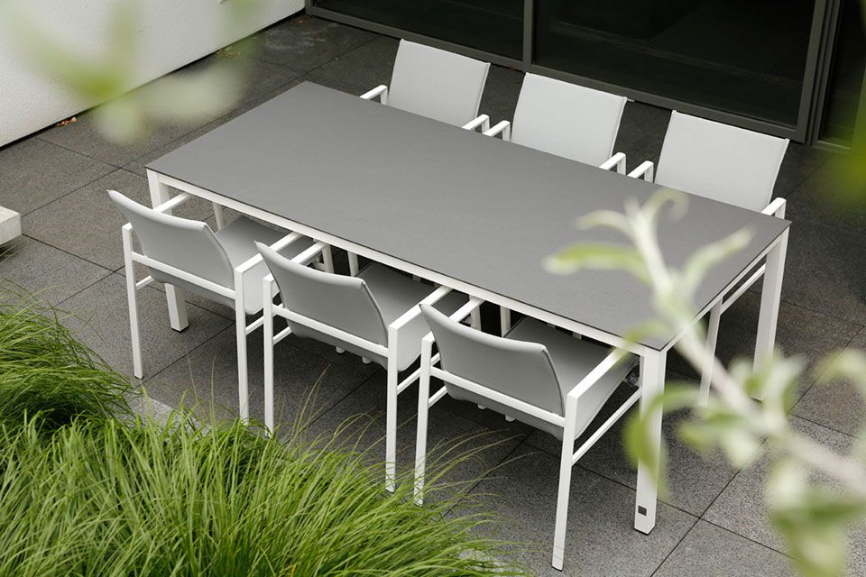 Tuinset Eetset Tuinstoel Albion | Aluminium-Textilene | 4 Seasons Outdoor!