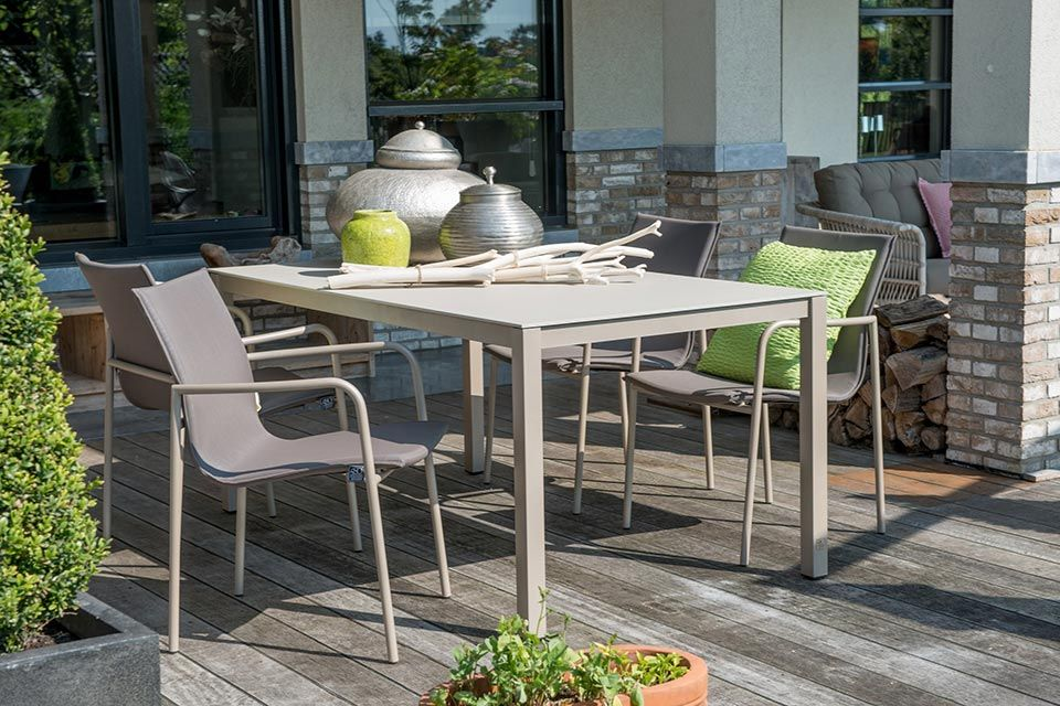 Tuinset Eetset Tuinstoel Rivoli | Aluminium | 4 Seasons Outdoor!