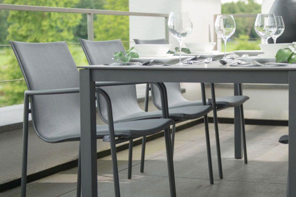 Tuinset Eetset Atrium | Aluminium-Textilene | 4 Seasons Outdoor!