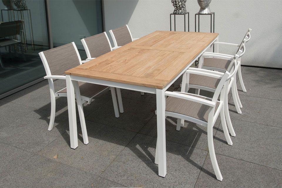 Tuinset Eetset Ricci Rivoli   Aluminium-Textilene   4 Seasons Outdoor!